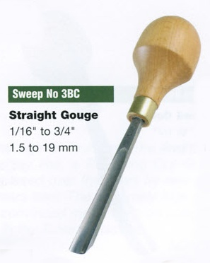 Straight Gouge Blockcutter (Sweep 3BC)
