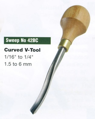 Curved V-tool Blockcutter (Sweep 42BC)