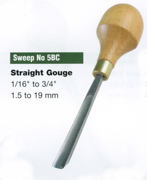 Straight Gouge Blockcutter (Sweep 5BC)