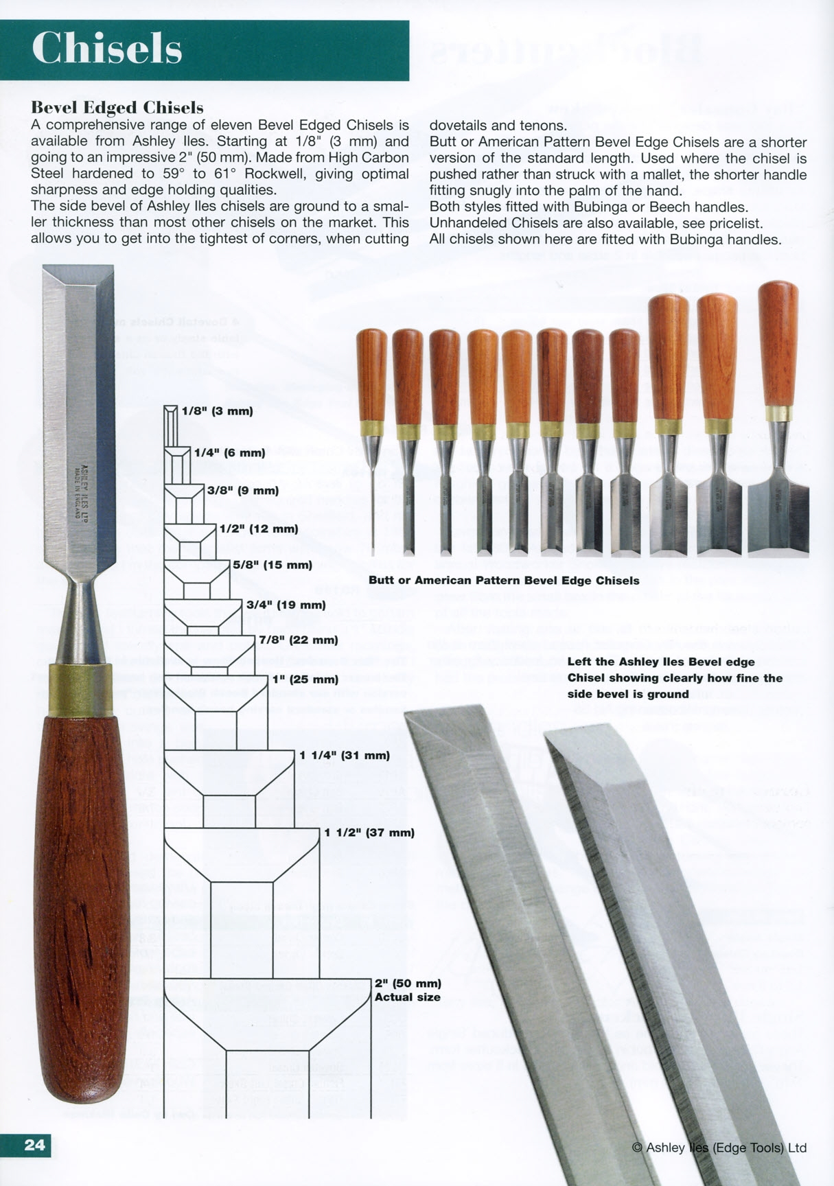 "3mm 1/8"" Butt Chisel"
