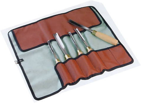 Baize Chisel Tool Roll 12 pockets