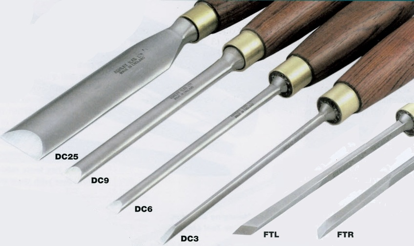 Dovetail Chisel Set of 6 with Right + Left Fishtails