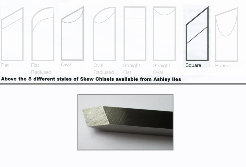 "9mm 3/8"" Square Section Skew Chisel"
