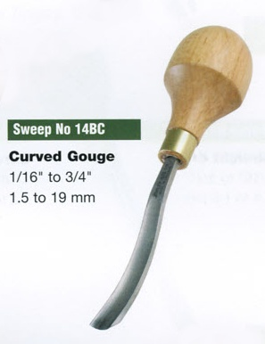 Curved Gouge Blockcutter (Sweep 14BC)