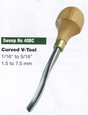 Curved V-tool Blockcutter (Sweep 40BC)