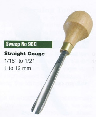 Straight Gouge Blockcutter (Sweep 9BC)