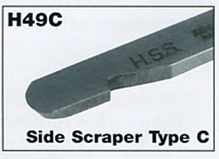 "9mm 3/8"" Mini Side Scraper Type C"