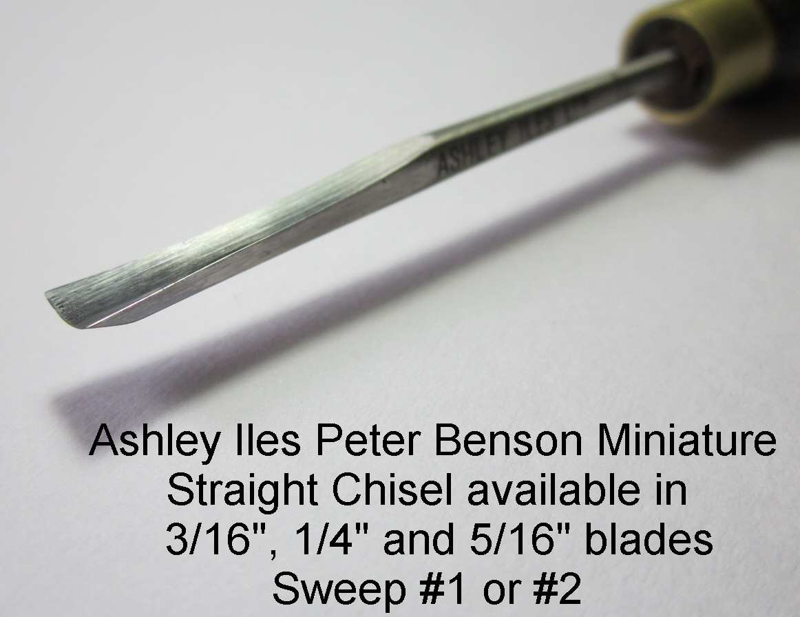 "1/4"" (6mm) Peter Benson Miniature Straight Chisel (Sweep 2)"